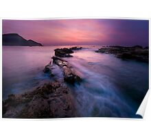 Romantic Sunset at Crackingtom Haven Poster