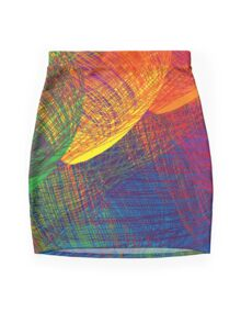 Rainbow Patch Mini Skirt