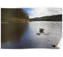 Rocks, Ladybower Reservoir. Poster