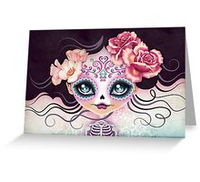 Camila Huesitos - Sugar Skull Greeting Card