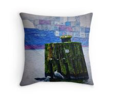 Nord-Ostsee Canal Throw Pillow