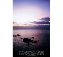 Dusk Dreaming Purple Sea Sunset Photograph Photographic Print