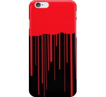 Blood Drips (black) iPhone Case/Skin