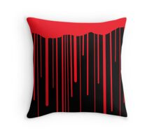 Blood Drips (black) Throw Pillow