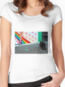 The End Of The Rainbow Women's Fitted Scoop T-Shirt
