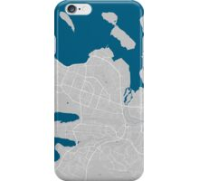 Reykjavik city map grey colour iPhone Case/Skin