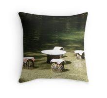 Cool Cafe Throw Pillow