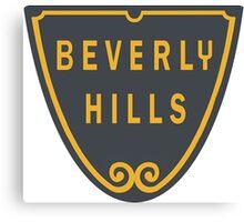 Beverly Hills Street Sign Print  Canvas Print