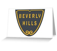 Beverly Hills Street Sign Print  Greeting Card