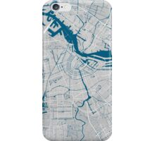 Amsterdam city map grey colour iPhone Case/Skin