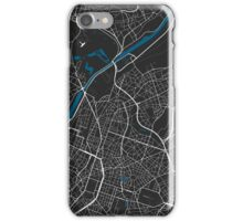 Brussels city map black colour iPhone Case/Skin