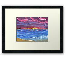 Kim's Sunset Framed Print