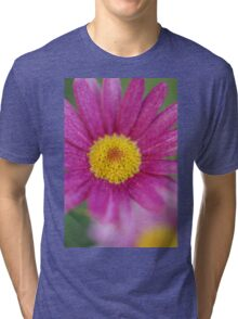 Pink and Yellow Tri-blend T-Shirt