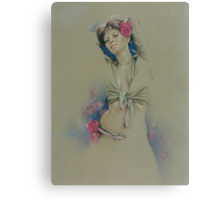 """Rose"" in Colour Pencil Canvas Print"