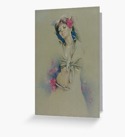 """""""Rose"""" in Colour Pencil Greeting Card"""