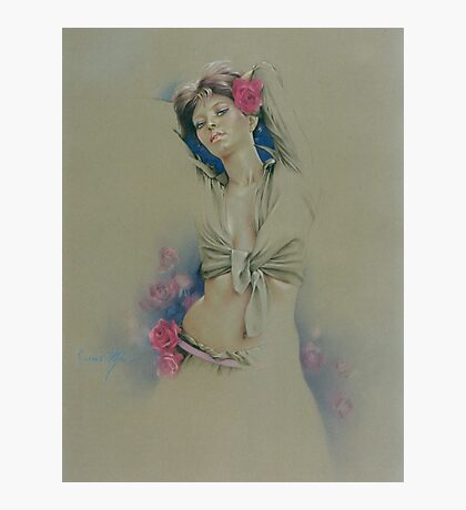 """Rose"" in Colour Pencil Photographic Print"