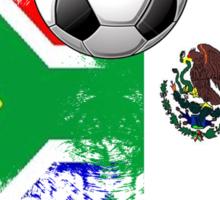 south africa vs. mexico Sticker