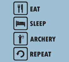 Eat Sleep Archery Repeat Stick Man Shirt  by movieshirtguy