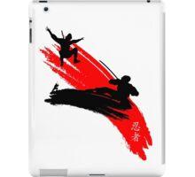 Ninjas having a sword fight.  iPad Case/Skin