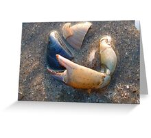 SEASHORE VICTIMS Greeting Card
