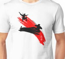 Ninjas having a sword fight.  Unisex T-Shirt