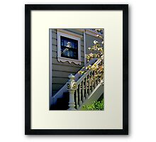 Upstairs Reflected, Downstairs Framed Print