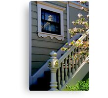 Upstairs Reflected, Downstairs Canvas Print