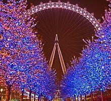 London Eye at night by vadim19