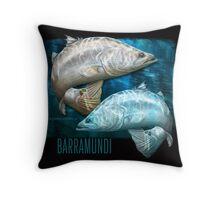 Cruising Chrome - barramundi Throw Pillow