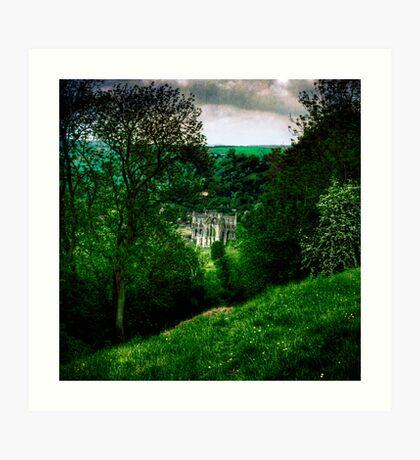 Rievaulx Abbey, from the Terrace Art Print