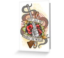Against the World Valentine Greeting Card