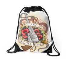 Against the World Valentine Drawstring Bag
