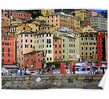 Colourful Camogli Poster
