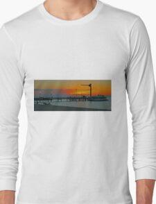 Sunset on Tangalooma, Queensland, Australia (Panorama) Long Sleeve T-Shirt