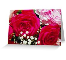 Roses and Peonies Greeting Card