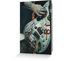 Green Day Rock Band Greeting Card
