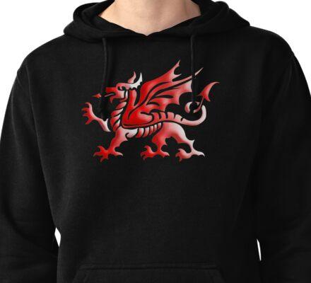 Welsh Dragon Pullover Hoodie