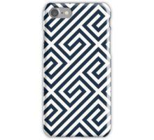 Navy Greek Keys Geometric Pattern iPhone Case/Skin