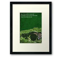 The Fellowship of the Ring inspired design. Framed Print