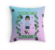 smart, strong, sensual woman Throw Pillow