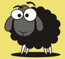 Black Sheep Cartoon Funny T-Shirt Sticker Duvet Cover Baby Tee