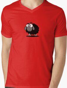 Black Sheep Cartoon Funny T-Shirt Sticker Duvet Cover Mens V-Neck T-Shirt