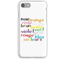 French colour words iPhone Case/Skin