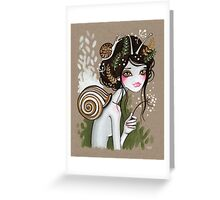 Snail Girl Greeting Card