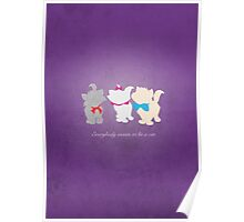 Aristocats inspired design. Poster