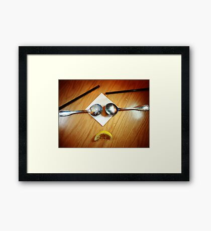Well HELLO, Upset Stomach! Framed Print