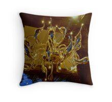 Venetian Glassblown Chandelier Throw Pillow