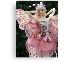 Fairy Doll with Cloth Wings - portrait Canvas Print