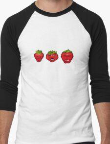 Rawberries Men's Baseball ¾ T-Shirt