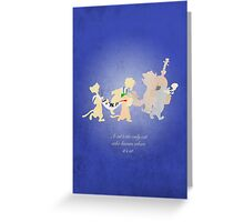 Aristocats inspired design (Alley Cats). Greeting Card